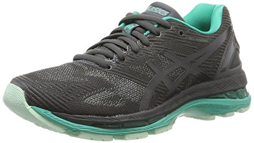 Asics Gel-Nimbus 19 Lite-Show, Zapatillas de Running Mujer, Gris (Dark Grey/Black/Reflective), 37.5...