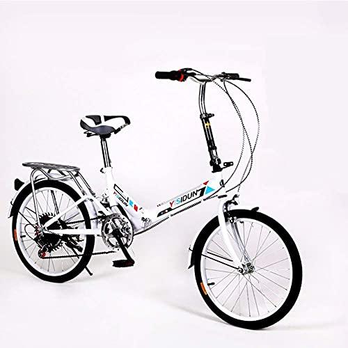 RTRD Bici Pieghevole da 20 Pollici, Bicicletta Pieghevole da Ciclismo a 6 Marce, Bicicletta da Donna per Adulti per Adulti, Bici da Auto, Telaio in Alluminio Leggero Assorbimento Shock