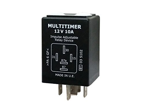 Universal Multitimer Zeitrelais 12V 0,5 sek - 10 std.