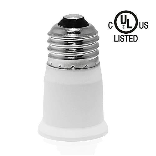 (12-Pack) SpiritLED E26 to E26 Socket Extender,E26/E27 to E26/E27 Lamp Holder Adapter (White Color-12pcs /Pack)