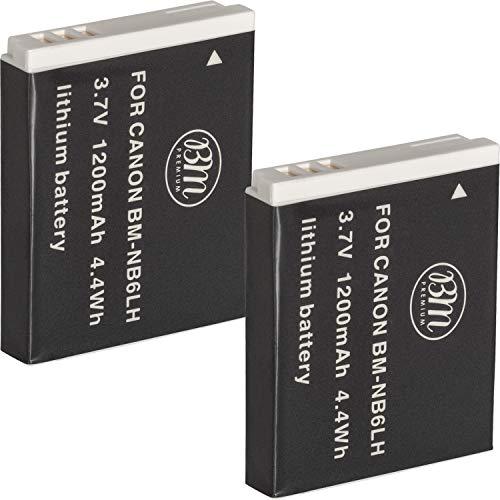 BM Premium Pack Of 2 NB6L, NB-6L, NB-6LH Batteries For Canon PowerShot S120, SX170 IS, SX260 HS, SX280 HS, SX500 IS, SX510 HS, SX520 HS, SX530 HS, SX540 HS, SX600 HS, SX610 HS, SX700 HS, SX710 HS, ELPH 500 HS, D10, D20, D30 Digital Camera