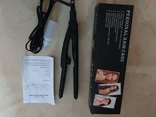 Tourmaline Ceramic Vapor Steam Flat Iron Moisturizing Spray Water Molecule Hair Straightener Temperature Control black