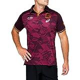 DSDFD Maillot de Rugby d'Entraînement Brisbane Broncos 2021 Maillot Rugby Domicile Et Extérieur à Manches Courtes Homme Femme, S-XXXXXL XXXL Red