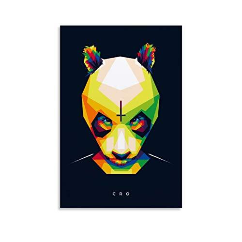 yimidida Cro Poster, dekoratives Gemälde, Leinwand, Wandkunst, Wohnzimmer, Poster, Schlafzimmer, Gemälde, 50 x 75 cm