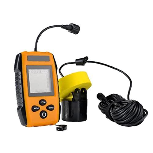 EElabper Mano Portable de la Pesca Sonda del Sensor del Sonar buscador de los Pescados para la Naranja de reconocimiento de la Profundidad de Pesca