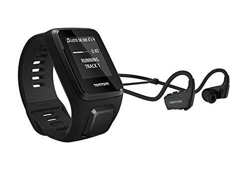 TomTom Spark 3 Cardio+Music Orologio GPS per il Fitness con Auricolare Bluetooth, Cardiofrequenzimetro Integrato, Lettore Musicale Integrato, Activity Tracker 24 7, Cinturino Large, Nero