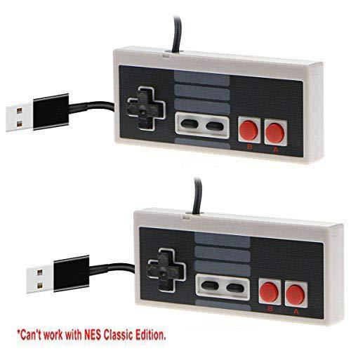 2 Packs Classic USB Controller for NES, USB Famicom Game Gaming Controller Joypad Gamepad for Laptop Computer Windows PC/MAC/Raspberry Pi