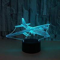 7色のベッドサイドデスク目の錯覚ランプ装飾スマートタッチボタンバレンタインデーの理想的な夜の光テーブルランプベッドサイドの視覚的なファンタジー