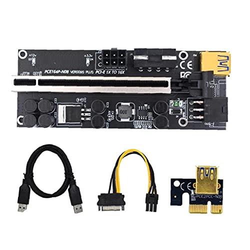 Tuimiyisou Tarjeta de 1x a 16x GPU Kits Riser Express con USB 3.0 Cable de extensión de 6 Clavijas Cable SATA