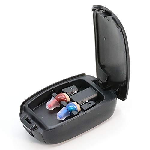 Amplificatore Acustico Micro, Amplificatore Audio Auricolare Wireless Invisibile in-Ear Riduzione del Rumore Intelligente per Anziani Amplificatore Acustico Personale-Ricaricabile (Size : Pair)
