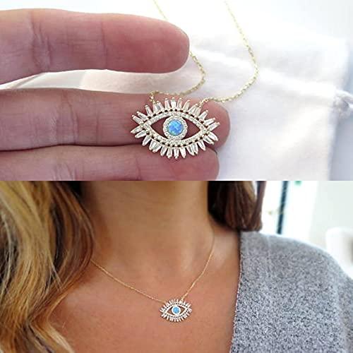 Quarter Newevil Eye Jewelry Gold Filled AAA Baguette Cubic Zirconia Cz Turquesas Piedra Moda Clásico Collar de Ojos Nuevo