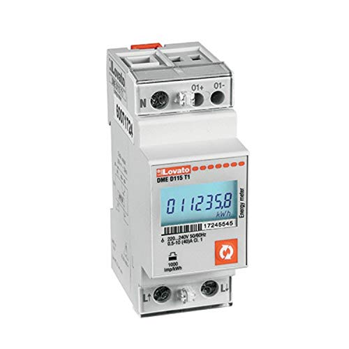 Contador de energía monofásico, entrada directa 40A/230VAC, 2 salidas de pulsos multimedida, 3,5 x 9 x 7,5 centímetros, color blanco (Referencia: DMED115T1)