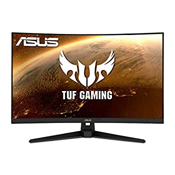ASUS TUF Gaming 32  1080P Curved Monitor  VG328H1B  - Full HD 165Hz  Supports 144Hz  1ms Extreme Low Motion Blur Speaker Adaptive-Sync FreeSync Premium VESA Mountable HDMI Tilt Adjustable