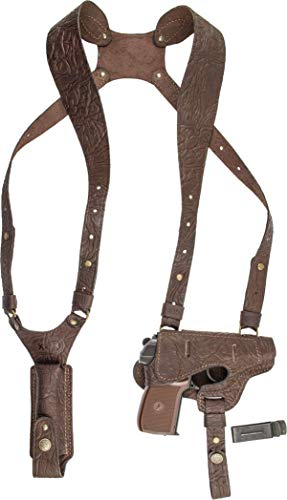 100% Leather Shoulder Gun Holster Ruger lc9, Makarov, Bersa Thunder, Walther PPK PPK/s #127
