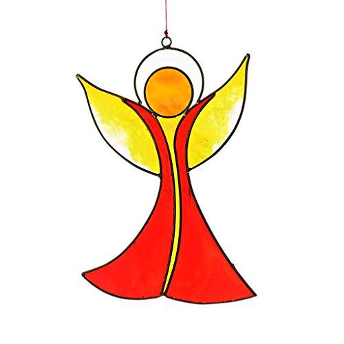 CRISTALICA Fensterschmuck Windspiel Suncatcher Engel Mehrfarbig 17 cm