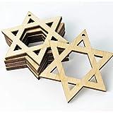 ALL SIZES BULK (12pc to 100pc) Unfinished Jewish Star of David Laser Cutout Dangle Earring Jewelry...
