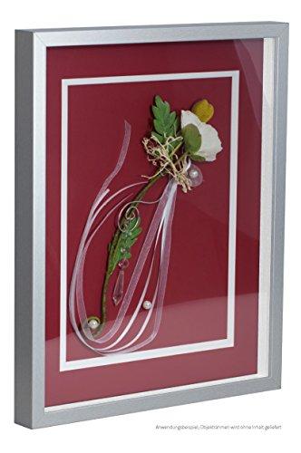 Bildershop-24 Objektrahmen FrameBox VARIO36 Mattsilber 100x100cm zum Einrahmen von Trikots, Blumen, Passepartouts etc.