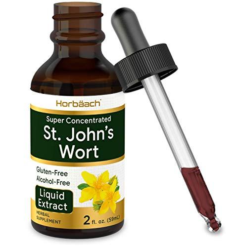 St Johns Wort Tincture   2 Oz   Alcohol Free   Vegeterian, Non-GMO, Gluten Free Liquid Extract   by Horbaach