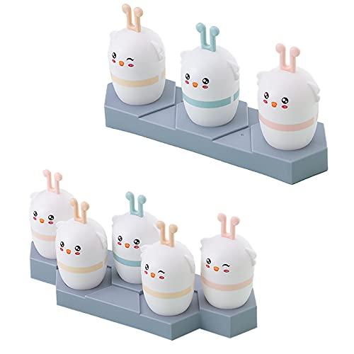 FunFive Set di 2 stampi per gelato, 3 griglie e 5 griglie, stampi per gelato, riutilizzabili, per congelare frutta o yogurt
