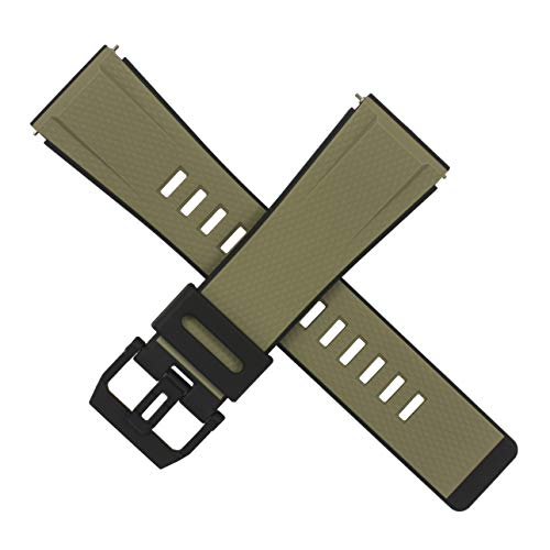 Casio GA-2000-5A GA 2000 - Correa para reloj (2000), color marrón caqui y negro