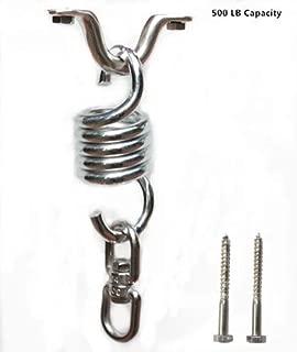 MHMYDZ Hammock Chair Spring Swivel Kit Hammock Chair Ultimate Hanging Kit Stainless Steel Suspension Ceiling Hooks Hammock Chair Hanger Swivel Hook and Snap Hooks Hammock Hooks 500 LB Capacity