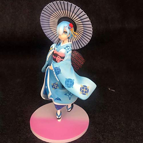 CJH Re: Het leven in een andere wereld dan nul Kimono en paraplu Versie Rem Action Figuur Anime Handgemaakte Model Populaire Cartoon Gift Toy Collectie van Re:Zero Peripherals