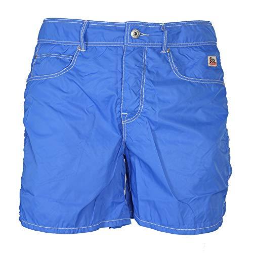 Roy Roger's - Pantaloncino Mare Uomo Beach Nylon Washed Azzurro - 34