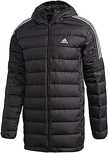 adidas ESS Down Parka Jacket, Black, XS Mens
