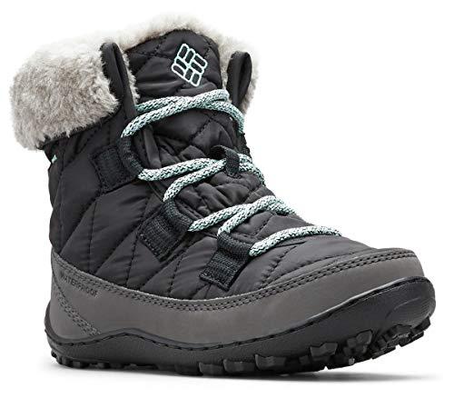 Columbia Minx Shorty Omni-Heat Waterproof, Botas de Nieve para Niñas, Negro (Black, Spray), 32 EU