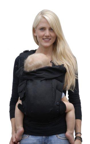 Bondolino Babytrage inklusive Bindeanleitung, schwarz