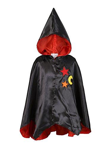 Rose Romeo & 10084-Costume per Travestimento, Mantello, Philein, Colore: Nero/Rosso