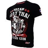 AITING Camisa de Manga Corta de Rashguard Reaper para Hombre con cráneo para MMA UFC BJJ, Camiseta de Fitness MMA luchando contra la Pelea Santa Muay Thai Camiseta tailande M