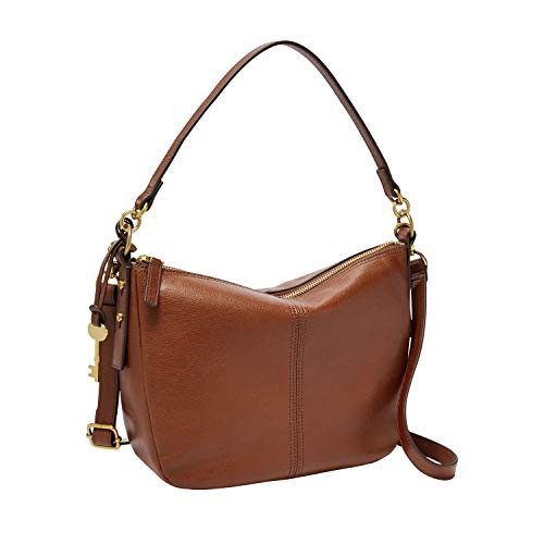 Fossil Women's Jolie Leather Crossbody Handbag, Brown