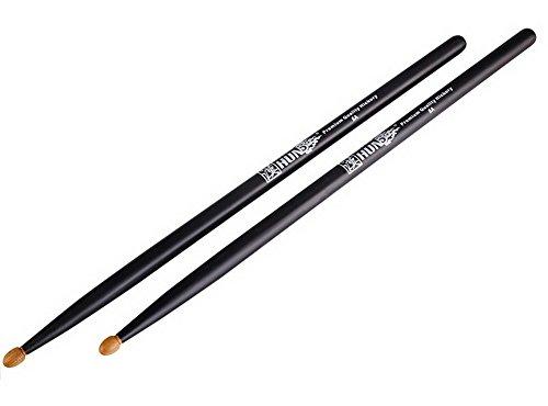Tambores de batería 5A Premium Calidad Hickory Drumsticks Versátil Drum Sticks Negro