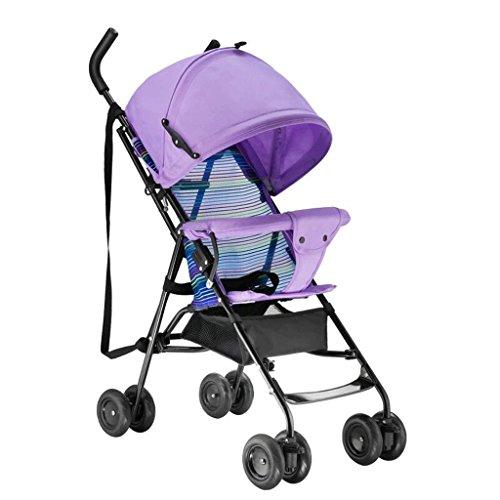 Poussette bébé Chariot de Voyage pour Enfants 1-3 Ans pour Enfants Trolley Summer Baby Pram GAOLILI (Couleur : Violet)