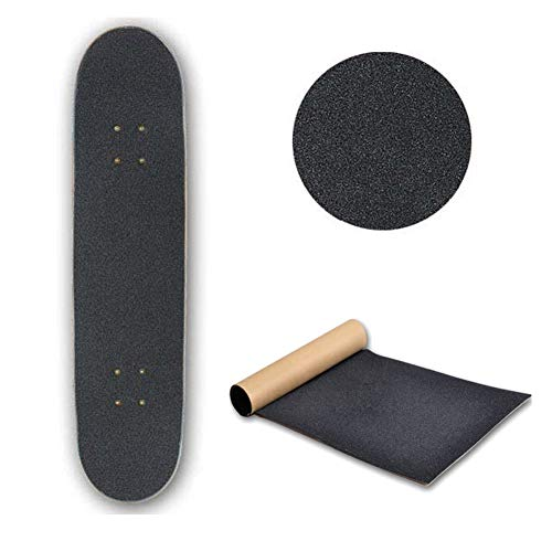 Yalatan schwarz Skate Scooter Sandpapier Aufkleber 1PC perforiert Skateboard Deck Tape Skateboard Sand Papier Band 80cm *