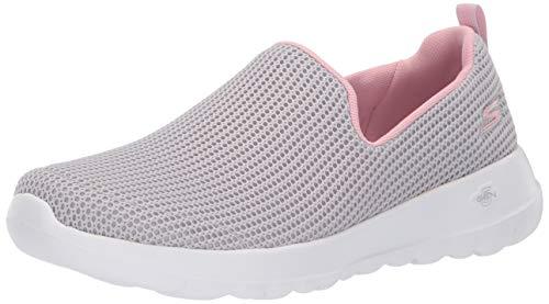 Skechers Women's GO Walk JOY-15637 Sneaker, Light Gray/Pink, 8.5 M US