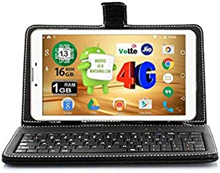 Ikall N4 Tablet (7 inch, 16GB, 4G + LTE + Voice Calling), White with Keyboard