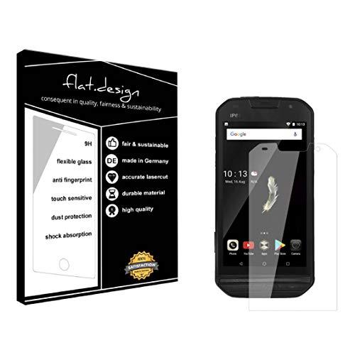 1x Bildschirm Schutz für Doogee S30 Screen Bildschirmschutz Schutzfolie kristallklar Flexible Folie, robust wie Glas. Qualität, Nachhaltigkeit und Fairness Made in Germany