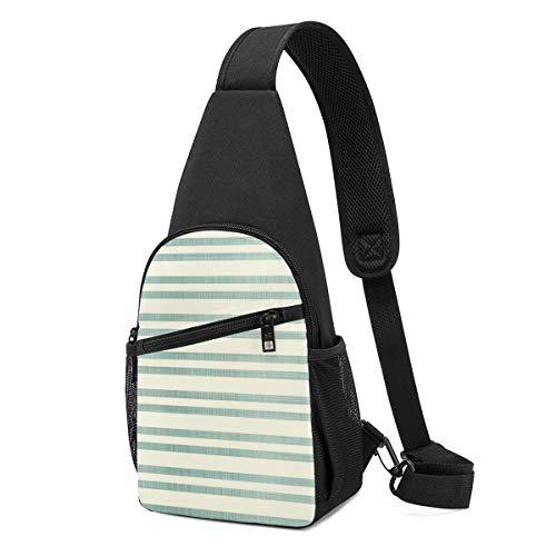 DEKIFNHG Sponge Stripe Sling Backpack Hiking Daypack Crossbody Shoulder Bag