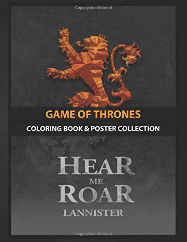 Coloring Book & Poster Collection: Game Of Thrones House Lannister Tv Shows