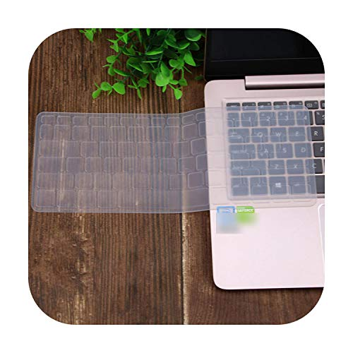 Silicone Keyboard Cover Skin Protector Guard for Acer Swift 3 Sf314-52 Sf314-54 / Swift 1 Sf114-32 14 Inch I5 8250U Notebook-Clear-