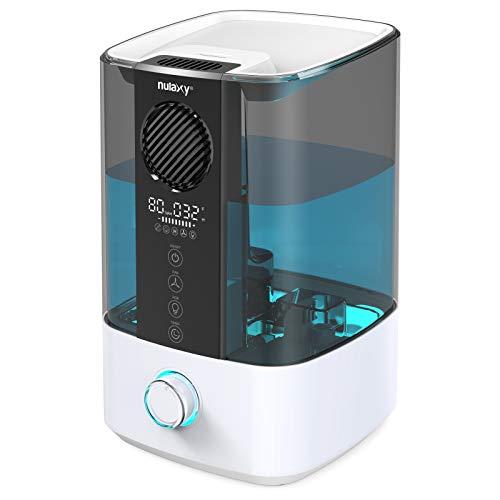 Nulaxy Top Fan Luftbefeuchter 4.5L mit RGB, Top-Füllung Raumluftbefeuchter mit Saubere Alarm Kühler Nebel Ultraschall Humidifier Auto-off für Schlafzimmer, Zuhause und Büro bis 20-70 m²