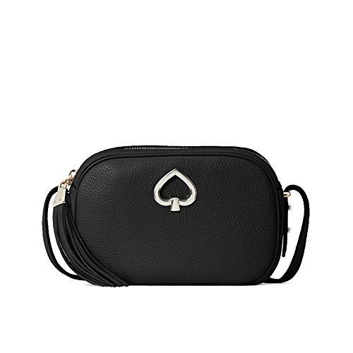 Kate Spade Kourtney Camera Leather Crossbody Bag Purse Handbag style # wkru6817 (one size, Black)