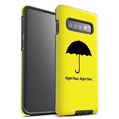 eSwish beschermhoes, mat, robuust, schokbestendig, voor Samsung Galaxy S10 Plus/paraplu/citaat design/comédie