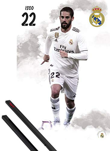 1art1 Fútbol Póster (91x61 cm) Real Madrid 2018/19, ISCO Y 1 Lote...
