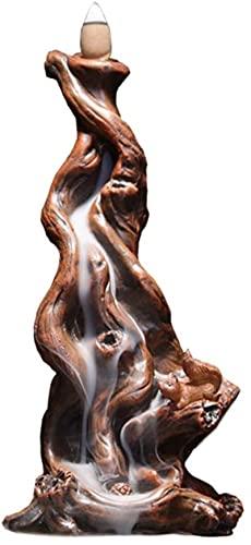 BackFlow Incensate quemador de montaña Agua de montaña Ornamentos creativos Sandalia Agarwood Tea Hogar interior Aromaterapia Decoración Adornos, Tamaño: 10 * 11 * 24 cm (Longitud * Ancho * Altura)