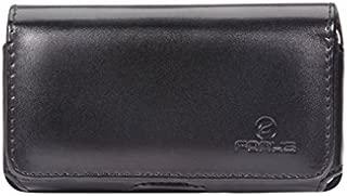 Premium Black Leather Sideways Phone Case Holster Cover with Swivel Belt Clip for Alltel Motorola DROID RAZR MAXX