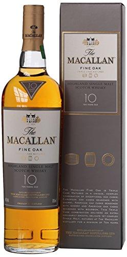 6. Whisky Macallan 10 años Fine Oak Speyside Malt