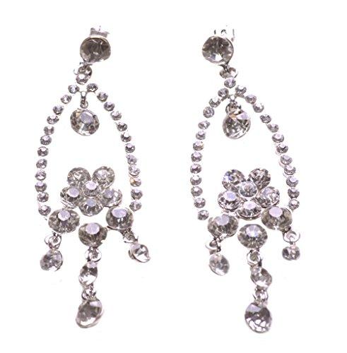 magnífica & Splendid Heavy diamantes pendientes de la gota de estilo araña (NS17)